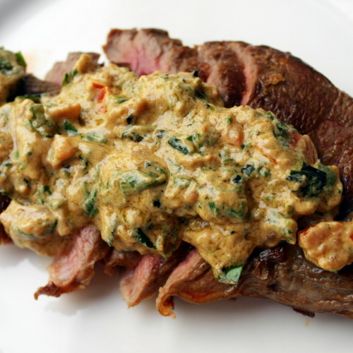 Round Steak & Tahini Sauce